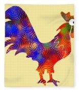 Red Rooster Art Fleece Blanket
