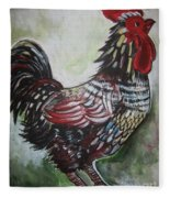 Red Rooster Fleece Blanket