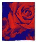 Red, Rose And Blue Fleece Blanket