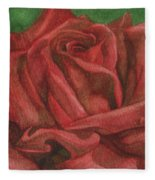 Red Rose Fleece Blanket