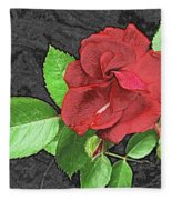 Red Rose For My Lady Fleece Blanket