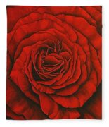 Red Rose II Fleece Blanket