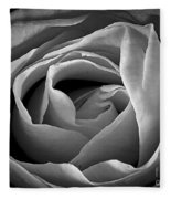 Red Rose In Infrared Fleece Blanket
