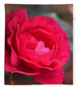 Red Rose Of May Fleece Blanket