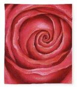 Red Rose Pastel Painting Fleece Blanket