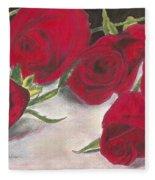 Red Rose Redux Fleece Blanket
