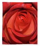 Red Rose Up Close Fleece Blanket