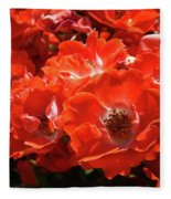 Red Roses Botanical Landscape 1 Red Rose Giclee Prints Baslee Troutman Fleece Blanket
