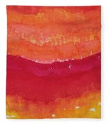 Red Saddle Original Painting Fleece Blanket