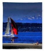 Red Sail Fleece Blanket