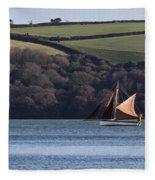 Red Sails In Carrick Roads Fleece Blanket
