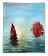Red Sails In The Sunset Fleece Blanket