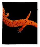 Red Salamander Fleece Blanket