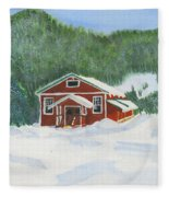 Red School House Fleece Blanket