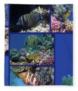 Red Sea Collage Fleece Blanket