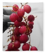 Red Seedless Grape Cluster Fleece Blanket