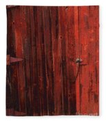 Red Shed Fleece Blanket