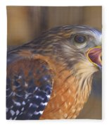 Red Shoulder Hawk Fleece Blanket