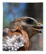 Red Shouldered Hawk - Profile Fleece Blanket