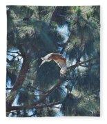 Red Shouldered Hawk Flying Away 1 Fleece Blanket