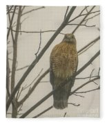 Red-shouldered Hawk Fleece Blanket