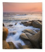 Red Sky At Morning Fleece Blanket