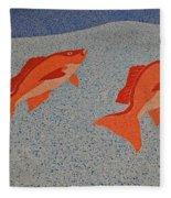 Red Snapper Inlay On Alabama Welcome Center Floor Fleece Blanket