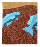 Red Snapper Inlay Sunny Day Invert Fleece Blanket