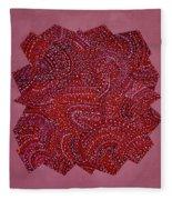 Red Spiral Fleece Blanket