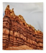 Red Spires Fleece Blanket