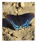 Red Spotted Purple Astyanax Fleece Blanket