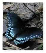 Red Spotted Purple Swallowtail Butterfly Fleece Blanket