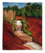 Red Spring Fleece Blanket