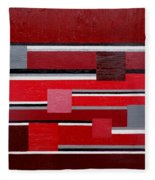 Red Square Fleece Blanket