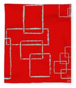 Red Squares Fleece Blanket
