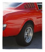 Red Stang Fleece Blanket