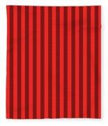Red Striped Pattern Design Fleece Blanket