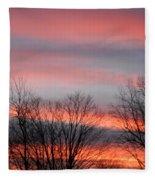 Red Sun Set Fleece Blanket