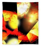 Red Sun Shell Fleece Blanket