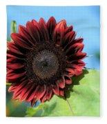 Red Sunflower Fleece Blanket