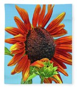 Red Sunflowers-adult And Child Fleece Blanket