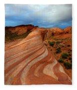 Red Swirl Fleece Blanket