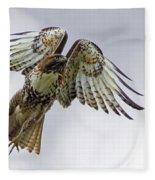 Red Tail Takeoff Fleece Blanket