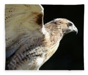 Red-tailed Hawk In Profile Fleece Blanket