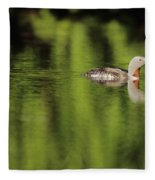 Red Throated Loon Fleece Blanket