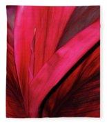 Red Ti Leaf Plant - Hawaii Fleece Blanket