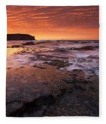 Red Tides Fleece Blanket
