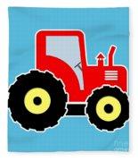 Red Toy Tractor Fleece Blanket
