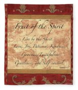 Red Traditional Fruit Of The Spirit Fleece Blanket