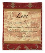 Red Traditional Love Fleece Blanket